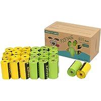 Kumoya Dog Poop Sacchetti biodegradabili in amido di Mais Dog Sacchetti di rifiuti con Dispenser–Extra Large, Extra Spesso, a Prova di perdite Dog Poo Bags