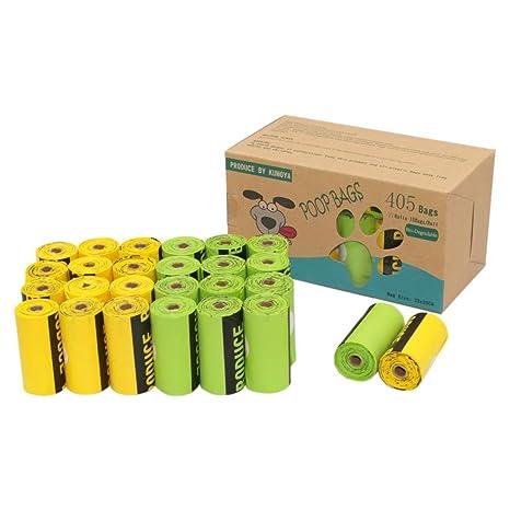 Kumoya - Bolsas biodegradables para Caca de Perro Hechas de almidón de maíz con dispensador -