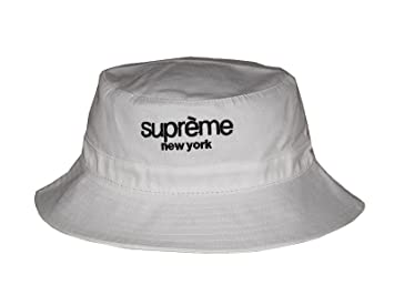 27aa9a10e0d Image Unavailable. Image not available for. Colour  New 2017 Fashion White  Supreme New York Bucket Hat