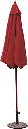 VMI 9-Feet Adjustable Patio Umbrella with Aluminum Pole, Burgundy