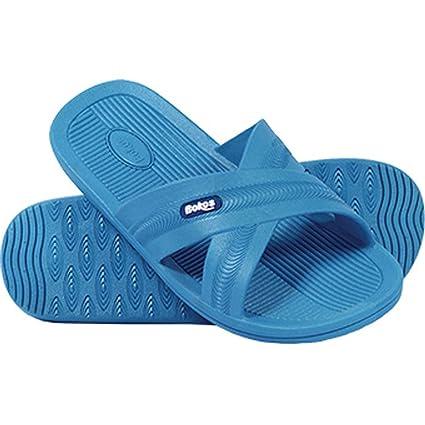 c2ae565489e79 Bokos Women's One-Piece Rubber Athletic Slide Sandals