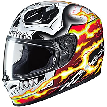 011bafa14 Amazon.com  HJC Marvel Unisex-Adult Full face CL-17 Hulk Motorcycle ...