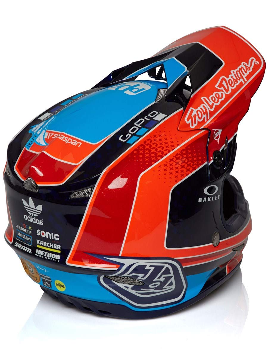 Amazon.es: Casco Mx Troy Lee Designs 2018 Se4 Squadra Team Carbon Anaranjado (L, Anaranjado)