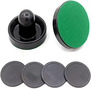 XuBa professionale interno 76 mm Air hockey da tavolo feltro Pusher set hockey Pucks di nero