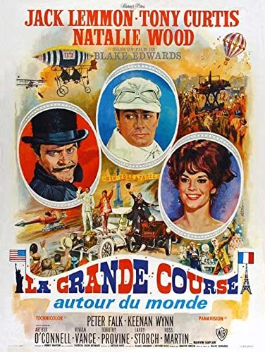 The Great race Tony Curtis Jack Lemmon movie poster print