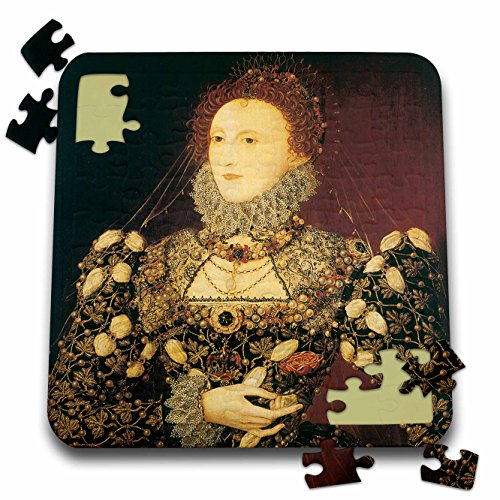 3dRose BLN Portrait Gallery by the Masters Fine Art Collection - Queen Elizabeth I by Nicholas Hilliard - 10x10 Inch Puzzle (Elizabeth Fine Art)