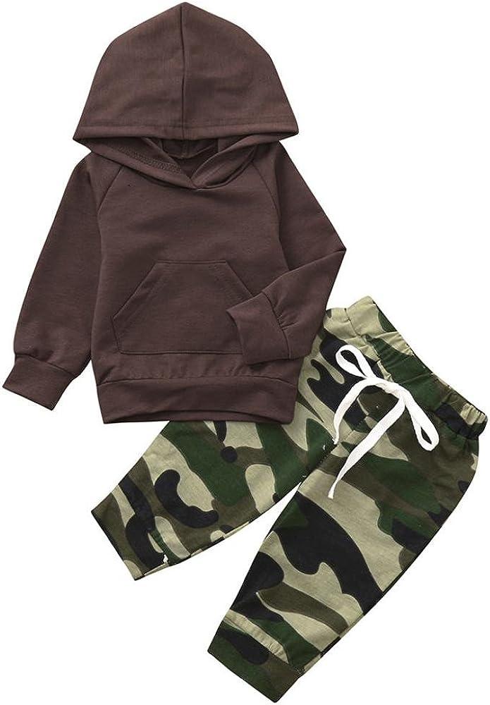 Ropa para Bebe, 2018 Niños Niñas Otoño Invierno de Manga Larga Camiseta y Pantalones Cortos Ropa Conjunto: Amazon.es: Ropa y accesorios