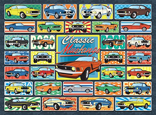 Ford Mustang Jigsaw Puzzle - 1000 Piece - Classic Mustang Puzzle Unique Gift for Mustang Enthusiast - Officially Licensed by Ford - Made in The USA Limited Stock