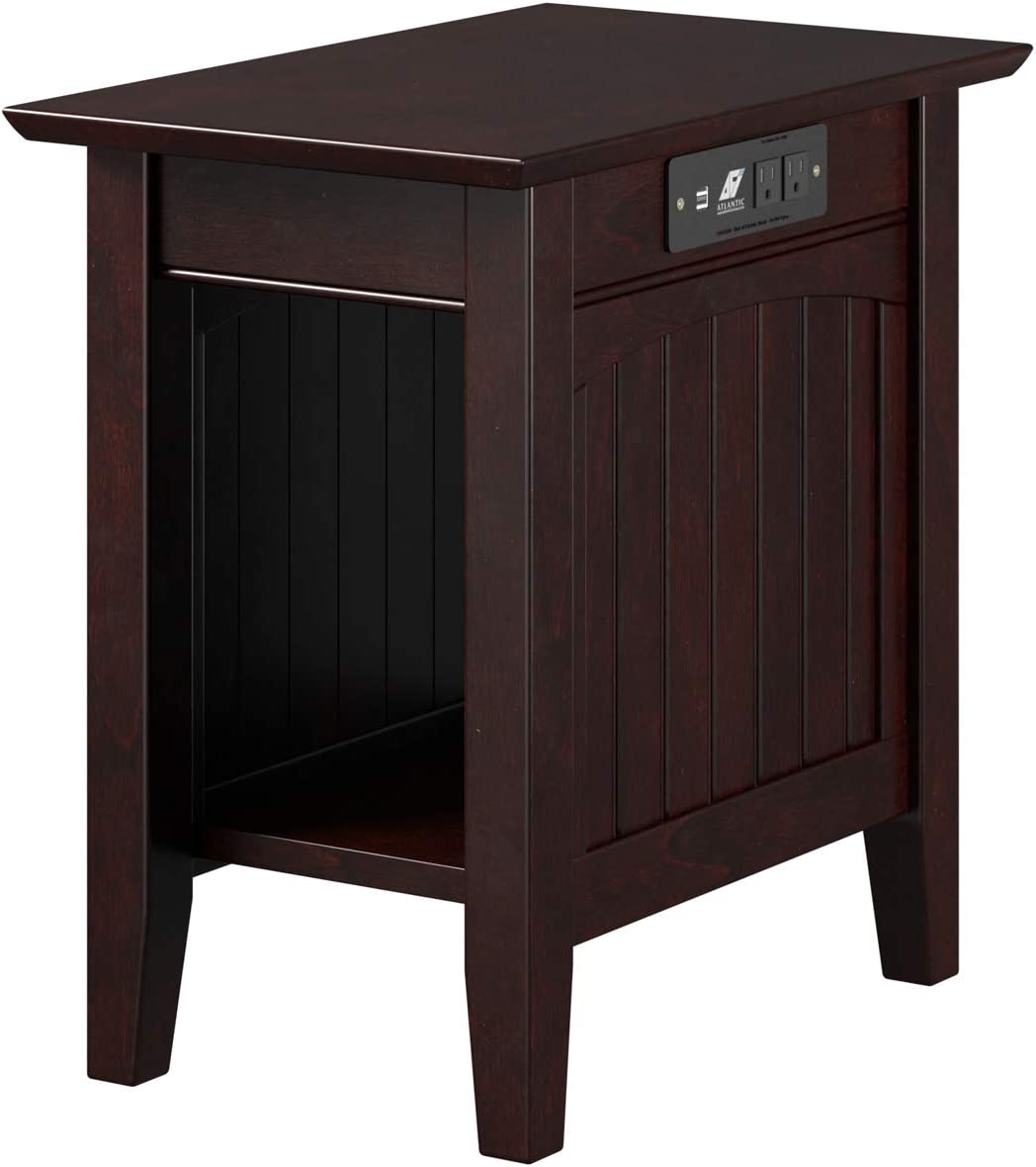Atlantic Furniture AH13311 Nantucket Chair Side Table, Espresso