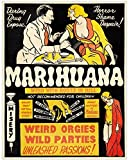 Marihuana - 11x14 Unframed Art Print - Great Gift for Stoners