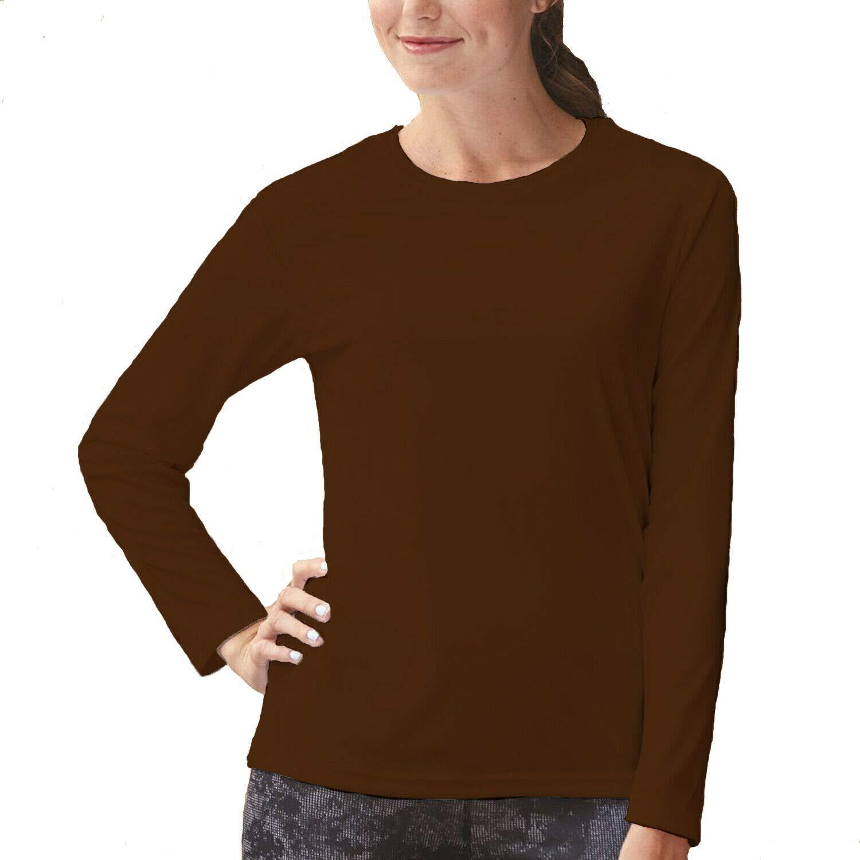 Papaval Women Ladies Plain Basic Top Long Sleeve Crew Uniform Jumper T-Shirt Tops