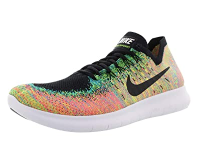 3c5f79ed87bb Nike Men s Free RN Flyknit 2017 Running Shoe Black Black-Blue Lagoon-HOT  Punch 14. 0  Buy Online at Low Prices in India - Amazon.in