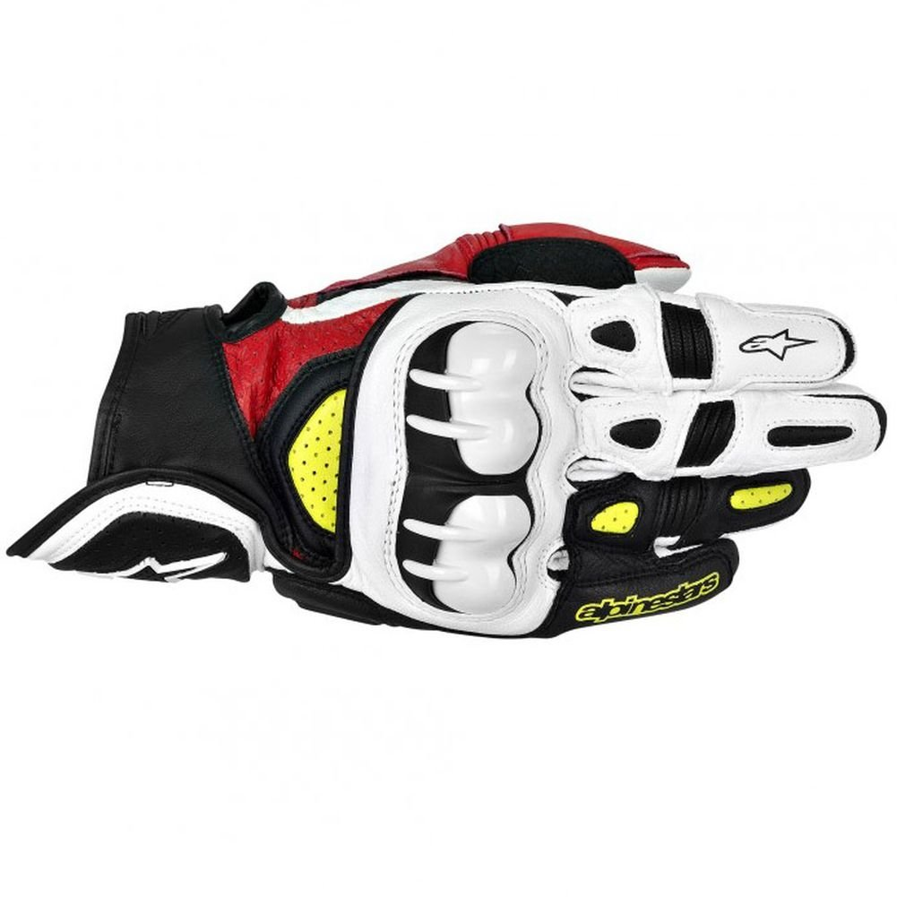 2X-Large 3301-2060-PU Black//Red//Yellow Alpinestars GPX Mens Leather Street Bike Motorcycle Gloves