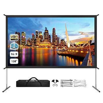 Amazon.com: Pantalla de proyector para exteriores 4K Ultra ...