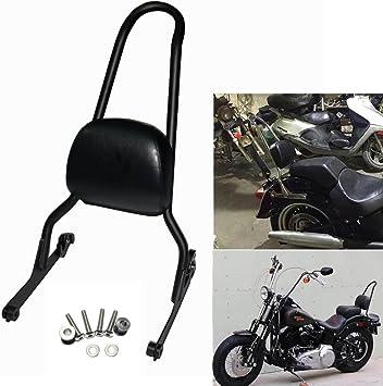 Black Detach Passenger Sissy Bar Backrest For Harley Softail Fatboy FXSTB