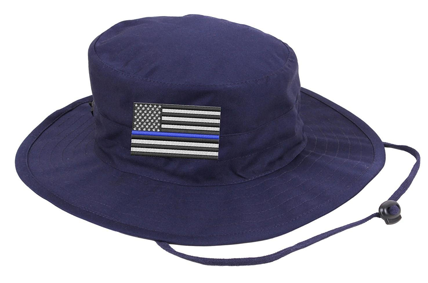 Embroidered Thin Blue Line Subdued American Flag Boonie Adjustable Hat ( Black) at Amazon Men s Clothing store  1d37bf633ed6