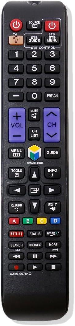 AA59-00784C Replacement TV Remote Control Sub AA59-00784A AA59-0784B BN59-01043A for Samsung UN65F6350A UN65F6350AF BN59-01043A UN55F9000 UN55F9000AF UN55F9000AFXZA UN55F9000AFX/ZA