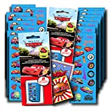 Disney Cars Stickers Party Favors ~ Set of 2 Sticker Packs ~ 16 Sheets Over 380 Disney Cars Stickers plus Bonus Reward Stickers ~ Lightening McQueen, Mater, Doc, and more!