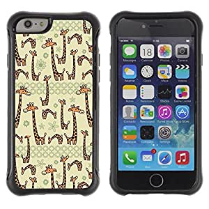 Suave TPU GEL Carcasa Funda Silicona Blando Estuche Caso de protección (para) Apple Iphone 6 / CECELL Phone case / / Beige Cartoon Animal Drawing /