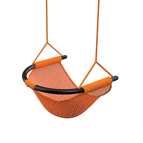 Topwon Hammock Swing Seats for Kids Heavy Duty Rope Play Secure Children Swing Set, Perfect for Indoor,Outdoor, 253 lbs Capacity Orange