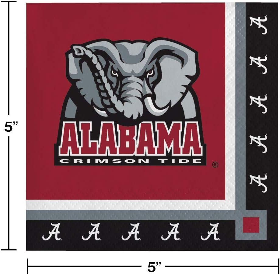 40 University of Alabama Crimson Tide 2-ply Premium Beverage Napkins College Football Party Tailgating