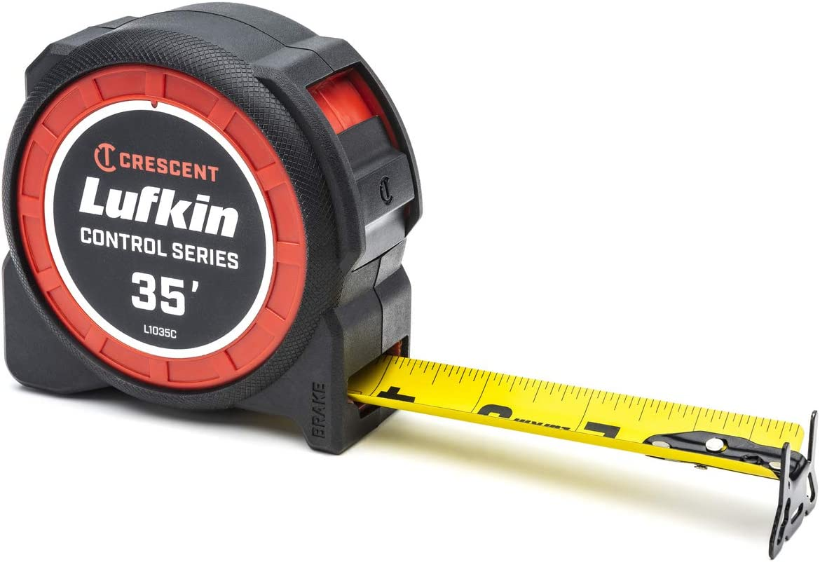 """Lufkin L1025CD 1-3//16/"""" x 25/' Command Control Yellow Engineers Tape Measure"""