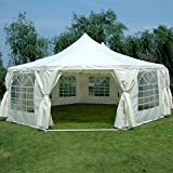 Quictent 9x6.5m(29x21FT) Decagonal Waterproof Heavy Duty Large Marquee Party Tent Garden Gazebo Event Shelter With Large Windows Multi-size Optional