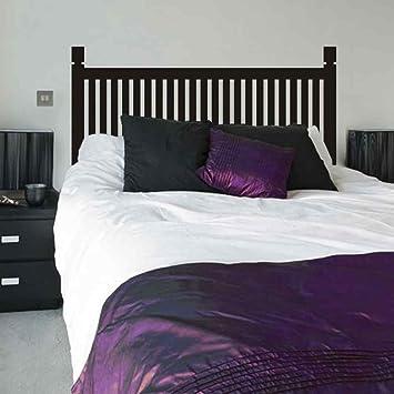 Dormitorio de madera estilo cama cabecero de cama adhesivo decorativo para pared vinilo de pared para doble Full Queen King cama pared vinilo adhesivo ...
