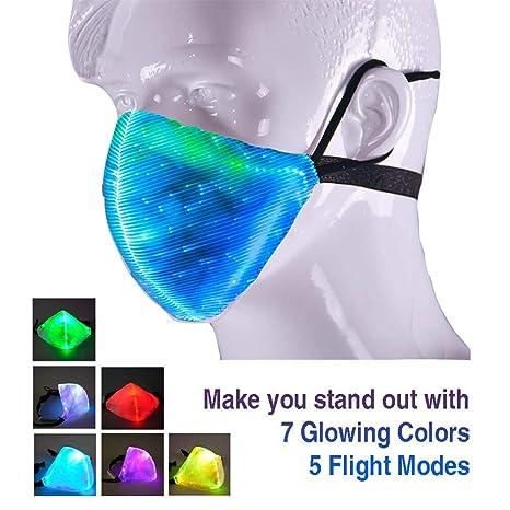 Lispeed Maschera a LED Unisex con Viso Luminoso con 7 Colori ... a3d6abfea8f4
