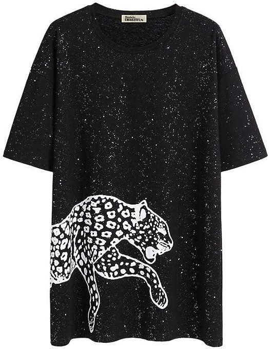 O&YQ Camiseta Negra Mujer Verano Suelta Cuello Redondo Largo Manga Corta Camisa de Fondo, Negro, s: Amazon.es: Deportes y aire libre