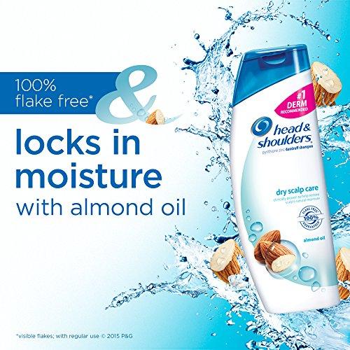Head and Shoulders Dry Scalp Care, Almond Oil,  Dandruff Shampoo 33.8 Fl Oz