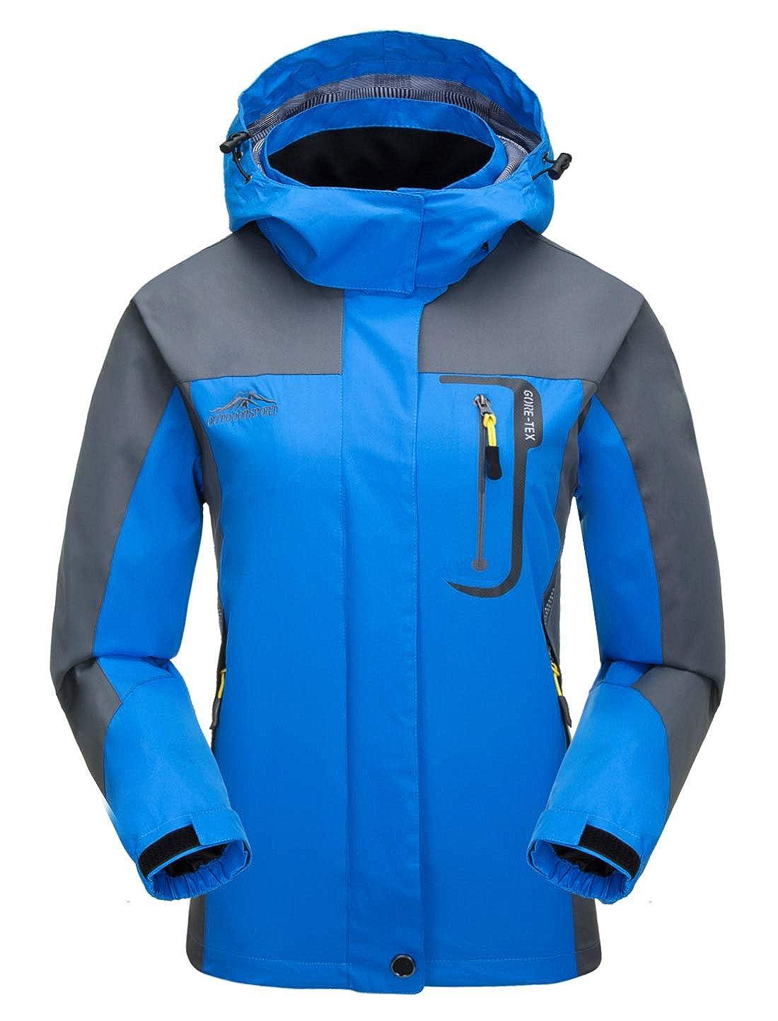Aieoe Women Soft Shell Windbreaker Waterproof Hoodie Mountaineer Sportswear