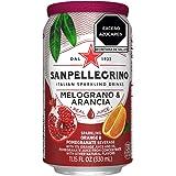 Agua Mineral sabor Naranja con Granada, San Pellegrino, Melograno, 330 ml, Paquete de 12