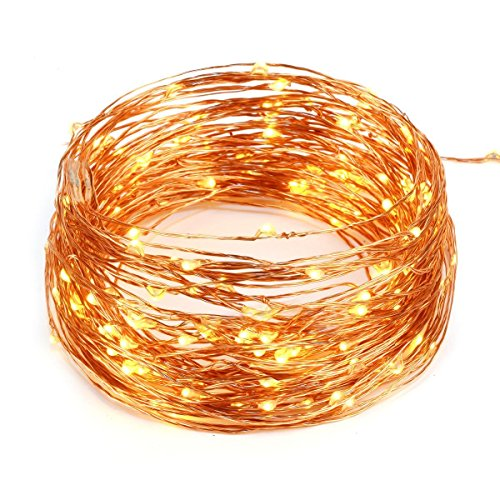 Copper Wire Lights Strings, LTROP 7ft 20 LED AA Battery Powered Starry String Lights, Ambiance Rope Light for Outdoor, Garden, Home, Dancing, Christmas Party (Batteries Not Included) – Warm White