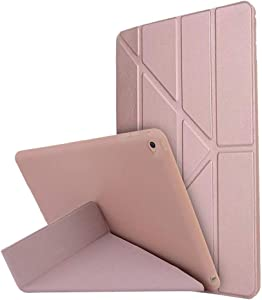 for iPad Air 1 1st Gen Case PU Leather Cover with Card Slots Auto Wake/Sleep Smart Cover Book Shell Stand for Apple iPad Air iPad WiFi 3G 4G,Rose Gold