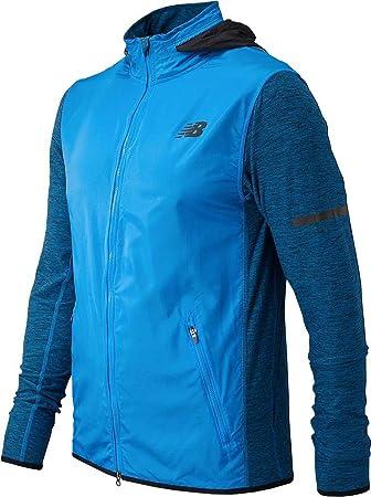 New Balance N Transit Running Jacket Men Blue Black S Amazon Co