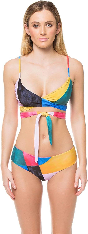 Mara Hoffman Womens Mila Chapiteau Wrap Bikini Top