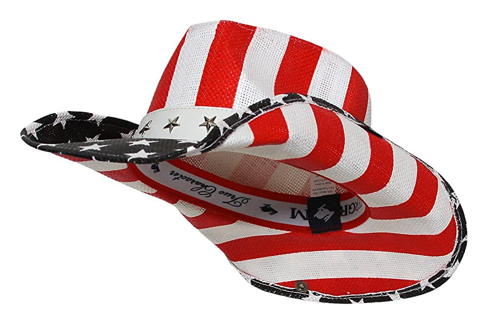 Peter Grimm Pure Justice USA Patriotic Cowboy Hat One Size) Fashion's Little Helpers