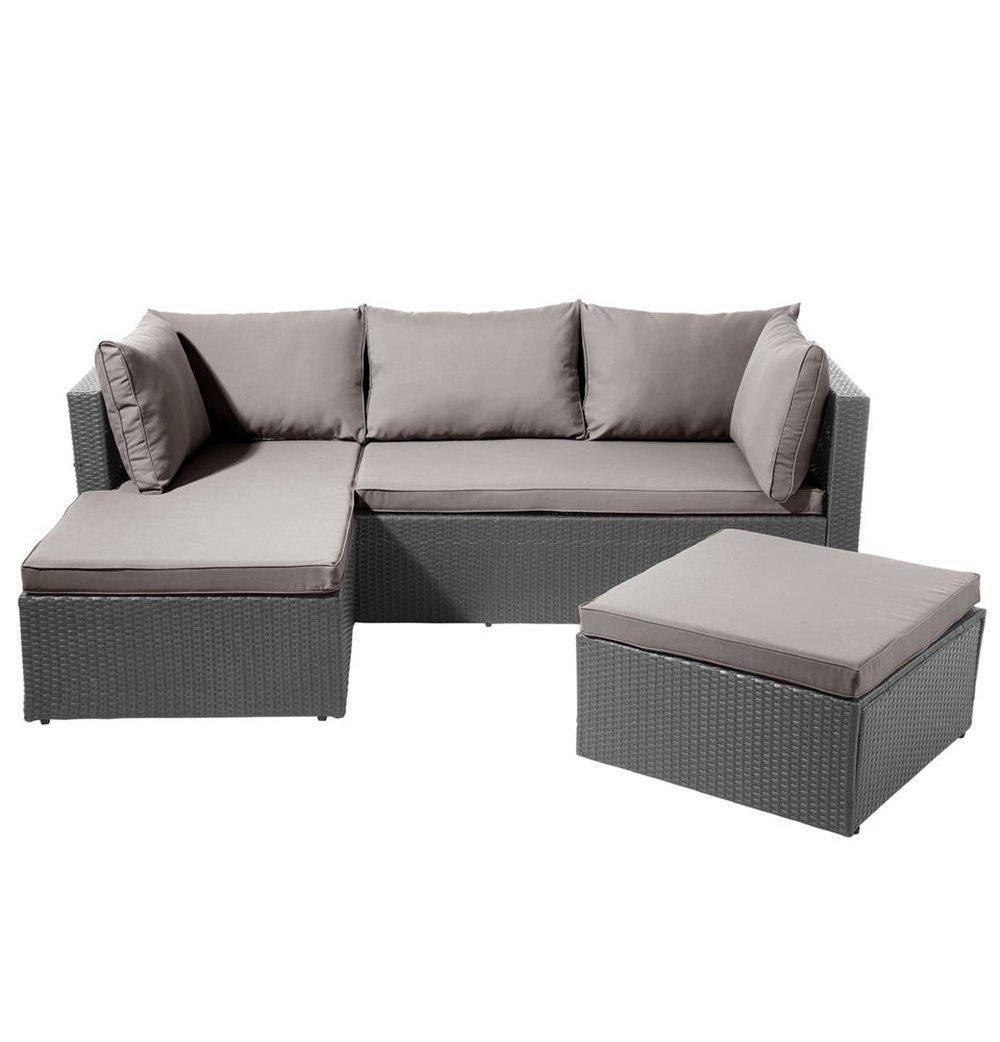 SSITG POLY RATTAN Garnitur Sitzgruppe Lounge Möbel Sofa Gartenmöbel ...