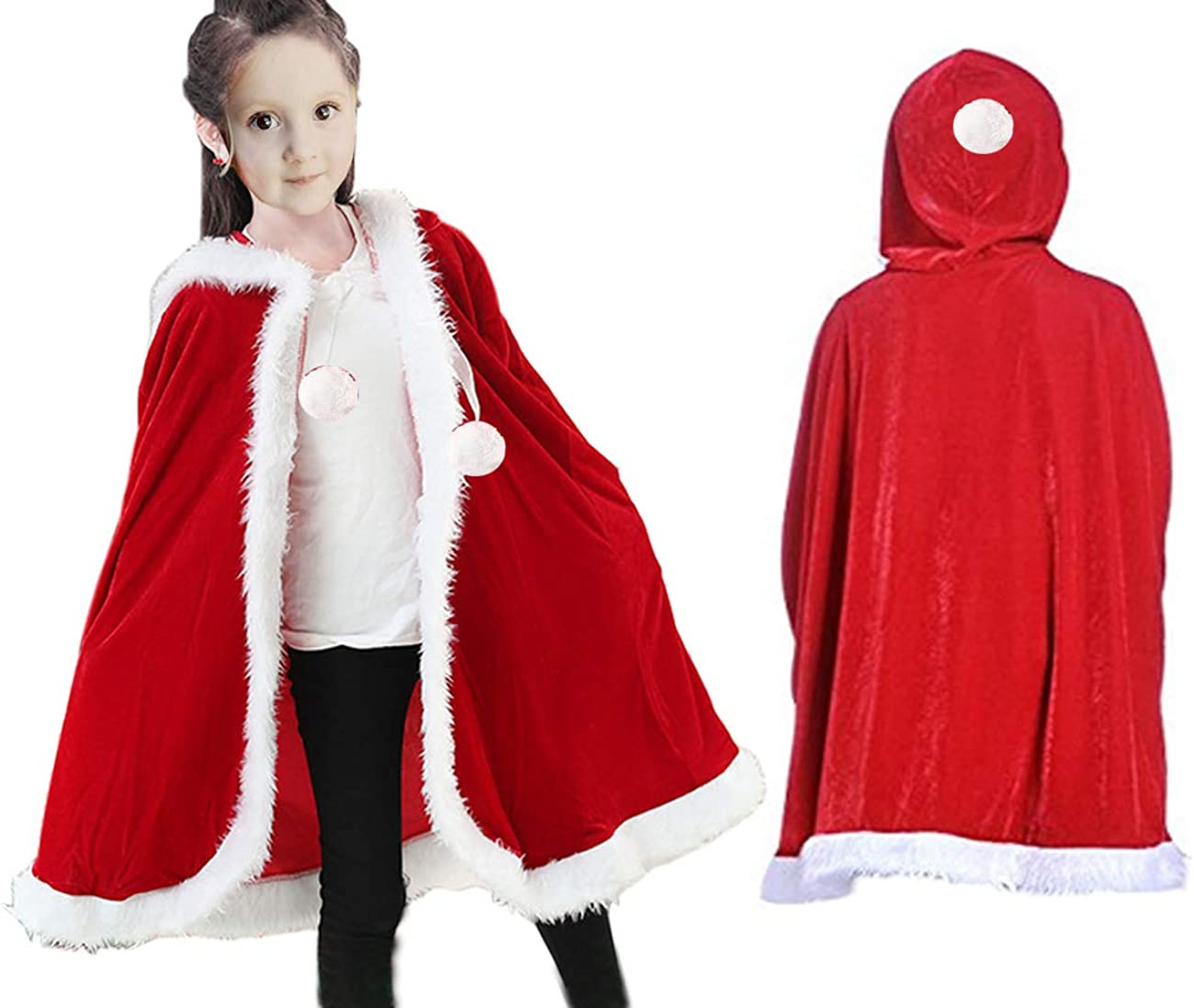 New Elope MINI SANTA CLAUS HAT Red Holiday Christmas Party Adults KIds Pets Doll