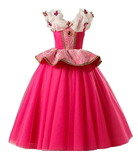 7a3e54a9093 WNSY Aurora Dress Costume Girls Princess Birthday Party Cosplay Halloween  Kids Clothes one 5 6