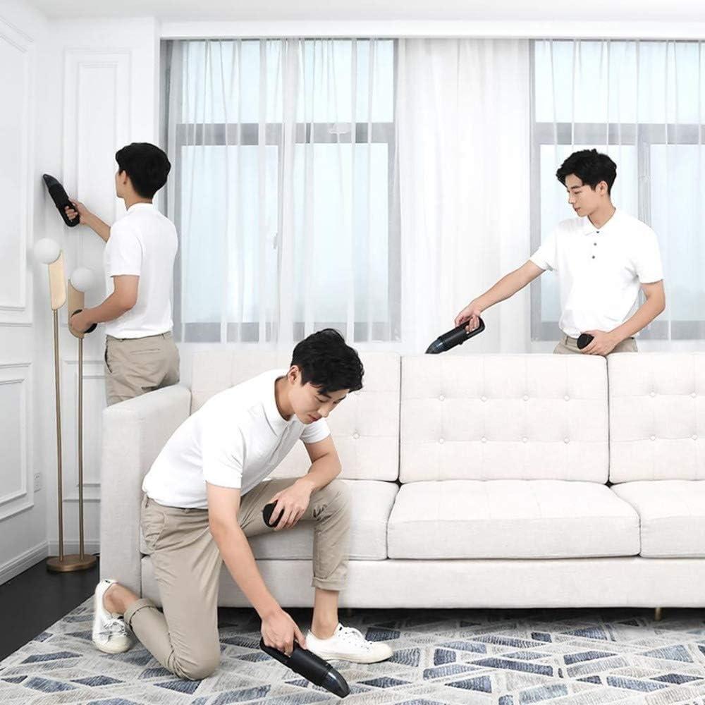NKIE Pratique Aspirateur, Aspirateur Voiture Haute Aspiration, à Main Aspirateur Portable sans Fil for la Maison sécurité (Color : White Home) White Standard