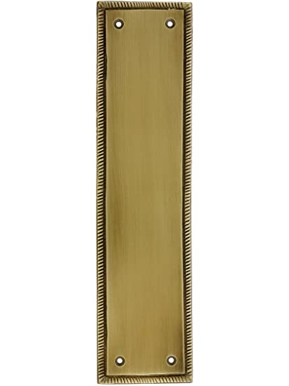 """12"""" Rope Push Plate In Antique Brass - 12"""