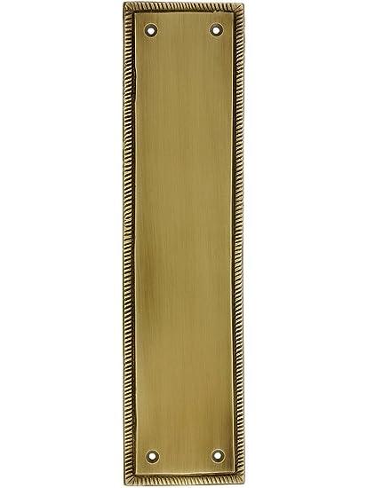 12u0026quot; Rope Push Plate In Antique Brass