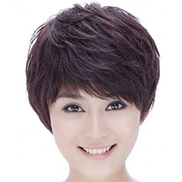 Hsg Short Wigs Nut Middle Ages Curly Wavy Wigs Short Wigs Office