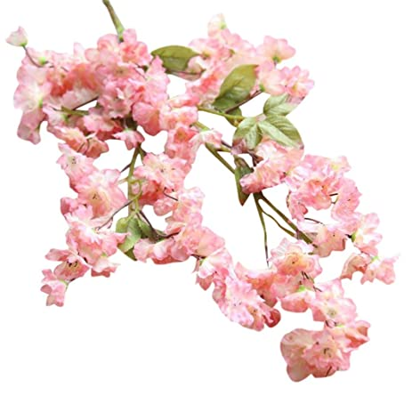Amazon paymenow artificial fake clearance cherry blossom silk paymenow artificial fake clearance cherry blossom silk flower bridal hydrangea for crafts office wedding home garden mightylinksfo