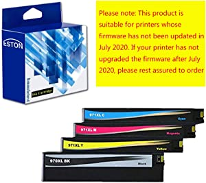 ESTON Remanufactured Ink Cartridges Replacements for HP 970XL 971XL High Yield for OfficeJet Pro X451dn, X451dw, X476dn, X476dw, X551dw X576dw (Black,Yellow,Cyan,Magenta 4-Pack)