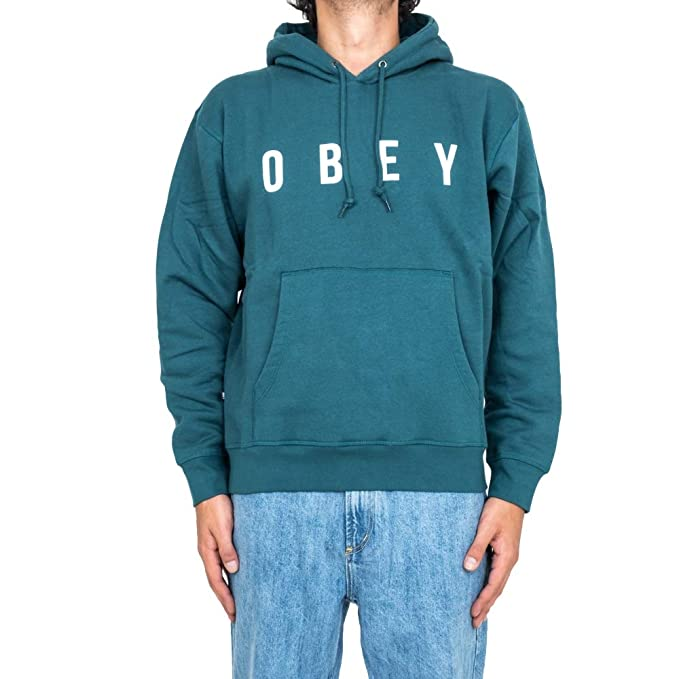Obey Anyway Hood Dark Teal Felpa Skate Surf Snow AI18: Amazon.es: Ropa y accesorios