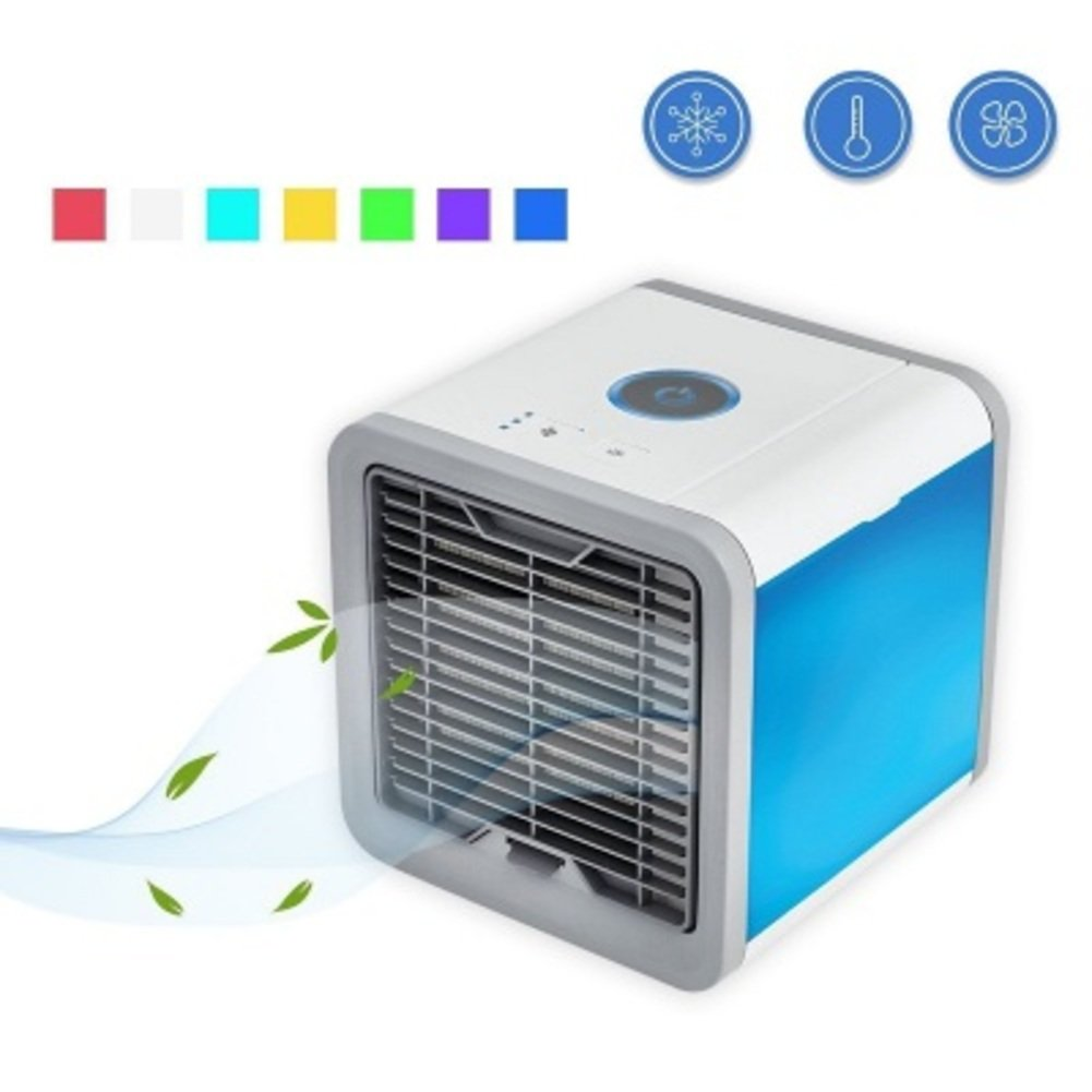 JiaQi Desktop Air Conditioner,Mini Air Cooler,Portable Desktop Office Cooling Usb Air Conditioning Outdoor Camping-White 16x16x17cm(6x6x7inch)