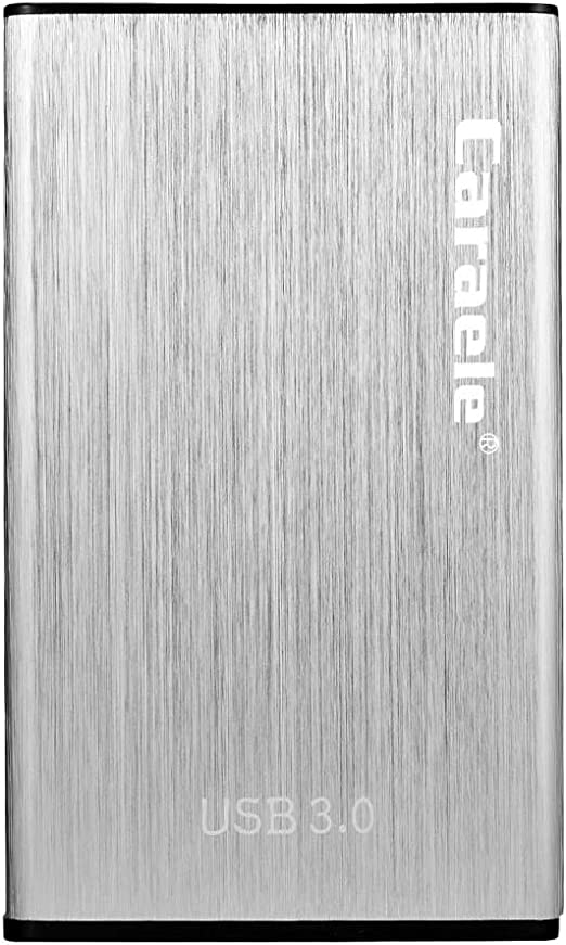 Almencla 外付ハードディスク 2TB/1TB/500GB SATA III HDDケース USB3.0 高速転送 シルバー - 500GB